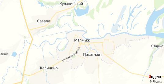 Карта Малмыжа с улицами и домами подробная. Показать со спутника номера домов онлайн