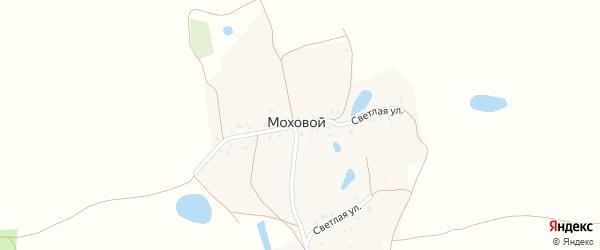Светлая улица на карте Мохового поселка Самарской области с номерами домов