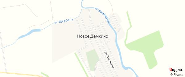 Карта села Новое Демкино в Татарстане с улицами и номерами домов