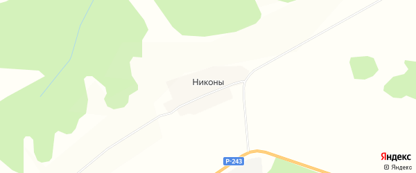 Карта деревни Никоны в Кировской области с улицами и номерами домов