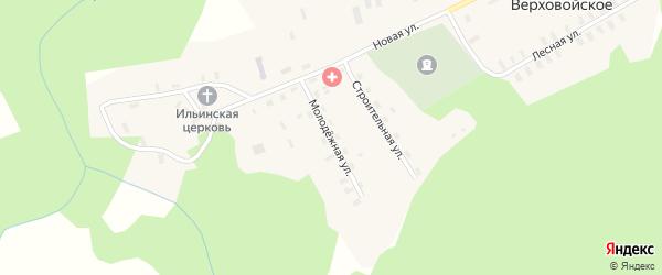 Молодежная улица на карте Верховойского села Кировской области с номерами домов