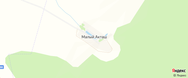 Карта поселка Малого Акташа в Татарстане с улицами и номерами домов