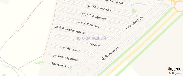Юго-Западный микрорайон на карте Нурлата с номерами домов