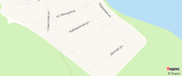 Солнечная улица на карте поселка Нювчима Коми с номерами домов