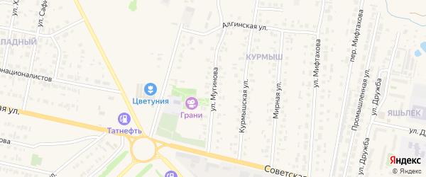 Улица Мугинова на карте Нурлата с номерами домов