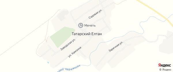 Карта села Татарского Елтана в Татарстане с улицами и номерами домов