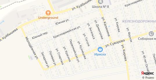 Улица Кузнецова в Нурлате с номерами домов на карте. Спутник и схема онлайн