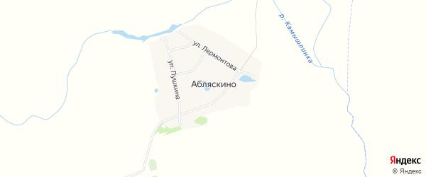 Карта деревни Абляскино в Татарстане с улицами и номерами домов