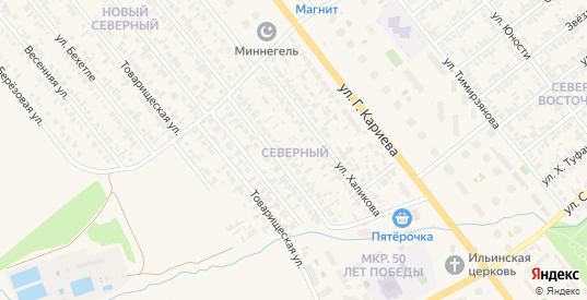 Северный микрорайон в Нурлате с номерами домов на карте. Спутник и схема онлайн