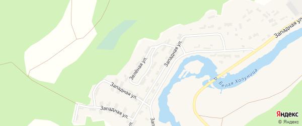 Зеленая улица на карте Белой Холуницы с номерами домов