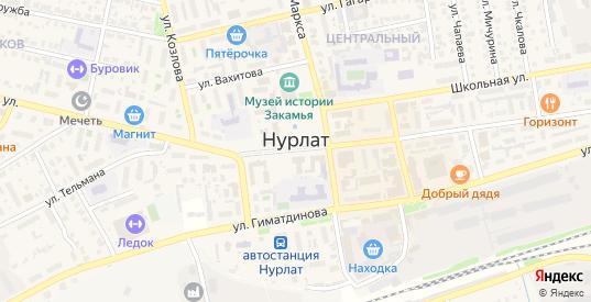 Улица Гончарова в Нурлате с номерами домов на карте. Спутник и схема онлайн