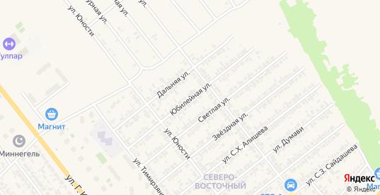 Юбилейная улица в Нурлате с номерами домов на карте. Спутник и схема онлайн