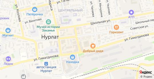 Кооперативная улица в Нурлате с номерами домов на карте. Спутник и схема онлайн