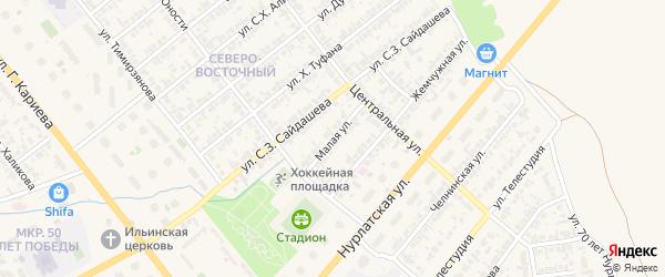 Малая улица на карте Нурлата с номерами домов