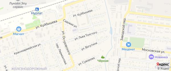 Улица Л.Толстого на карте Нурлата с номерами домов