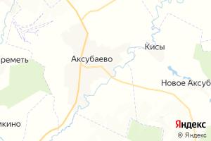 Карта пгт Аксубаево Республика Татарстан