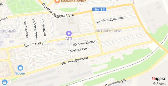 Школьный переулок в Нурлате с номерами домов на карте. Спутник и схема онлайн