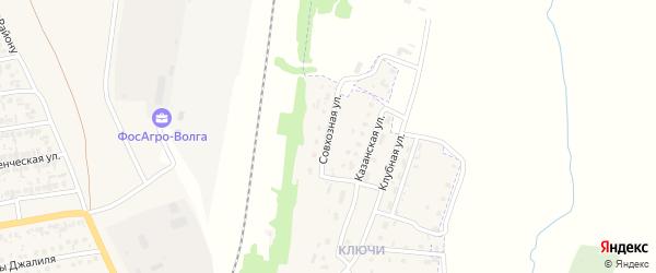 Совхозная улица на карте Нурлата с номерами домов