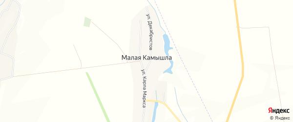 Карта деревни Малой Камышлы в Татарстане с улицами и номерами домов