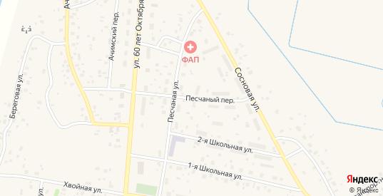 Песчаный переулок в Емве с номерами домов на карте. Спутник и схема онлайн
