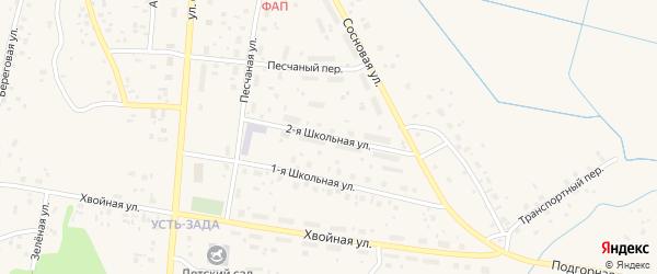 Школьная 2-я улица на карте Емвы с номерами домов