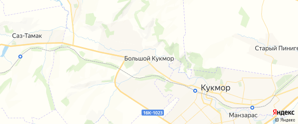Карта Кукмор с районами, улицами и номерами домов