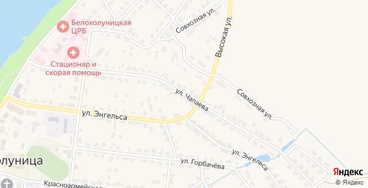 Улица Чапаева в Белой Холунице с номерами домов на карте. Спутник и схема онлайн