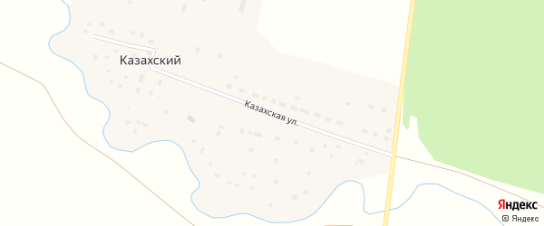 Казахская улица на карте Казахского аула Самарской области с номерами домов