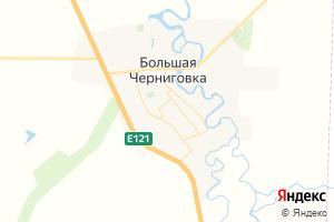 Карта с. Большая Черниговка Самарская область