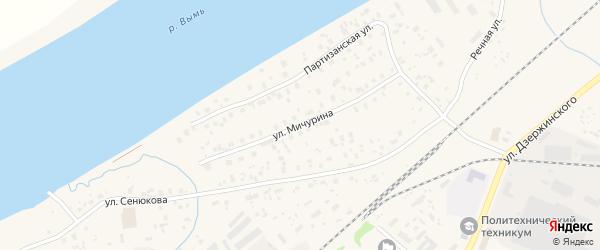 Улица Мичурина на карте Емвы с номерами домов