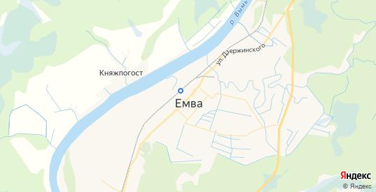 Карта Емвы с улицами и домами подробная. Показать со спутника номера домов онлайн