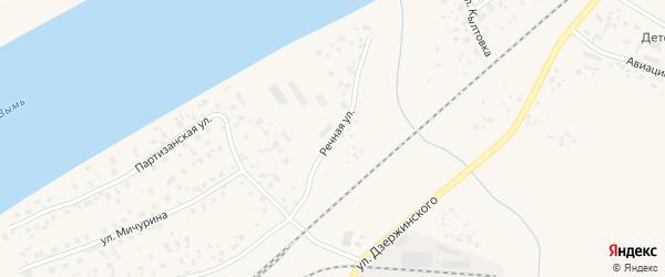 Речная улица на карте Емвы с номерами домов