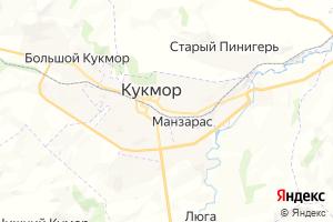 Карта пгт Кукмор Республика Татарстан