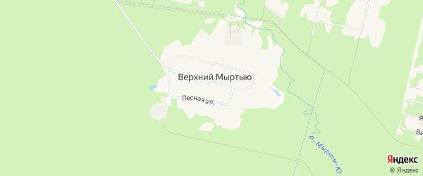 Карта поселка Верхния Мыртыю города Сыктывкара в Коми с улицами и номерами домов