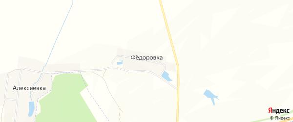 Карта деревни Федоровки в Татарстане с улицами и номерами домов