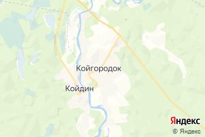 Карта с. Койгородок Республика Коми