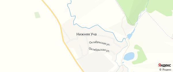 Карта деревни Нижней Уча в Татарстане с улицами и номерами домов