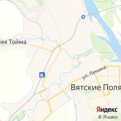 Участок под АЗС в Вятскополянском  районе Кировской области   на карте