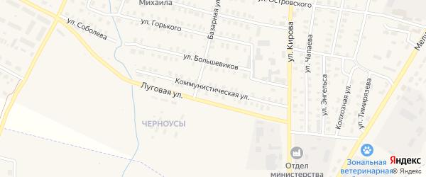 Коммунистическая улица на карте Зуевки с номерами домов