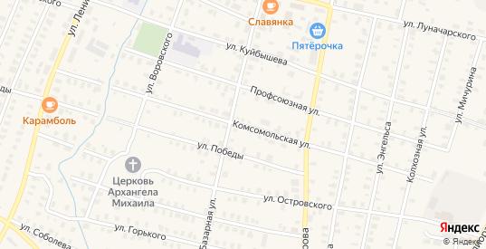 Комсомольская улица в Зуевке с номерами домов на карте. Спутник и схема онлайн