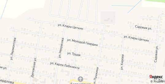 Улица Молодой Гвардии в Зуевке с номерами домов на карте. Спутник и схема онлайн