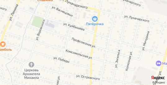 Профсоюзная улица в Зуевке с номерами домов на карте. Спутник и схема онлайн