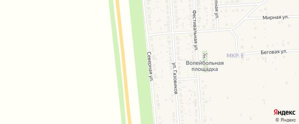 Северная улица на карте Нефтегорска с номерами домов