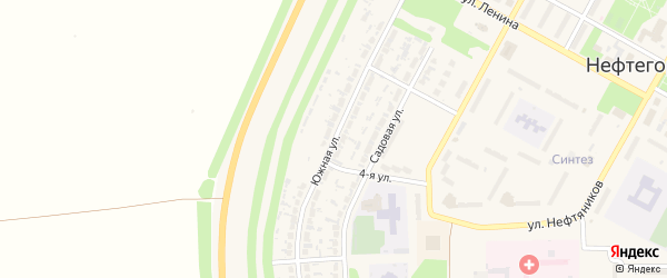 Южная улица на карте Нефтегорска с номерами домов