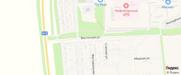 Восточная улица на карте Нефтегорска с номерами домов