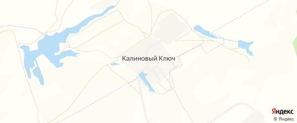 Карта поселка Калинового Ключа в Самарской области с улицами и номерами домов