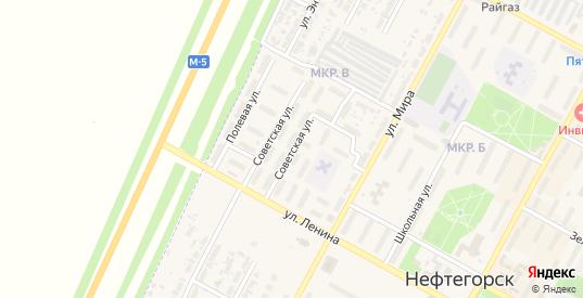 Советская улица в Нефтегорске с номерами домов на карте. Спутник и схема онлайн