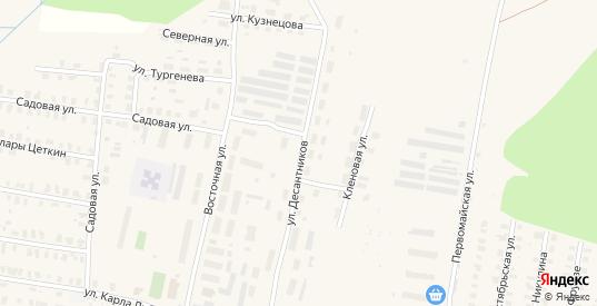 Улица Десантников в Зуевке с номерами домов на карте. Спутник и схема онлайн