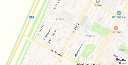 Переулок Строителей в Нефтегорске с номерами домов на карте. Спутник и схема онлайн