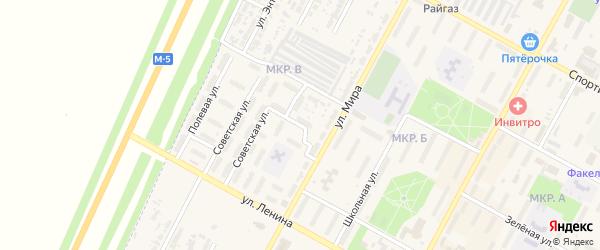 Переулок Строителей на карте Нефтегорска с номерами домов